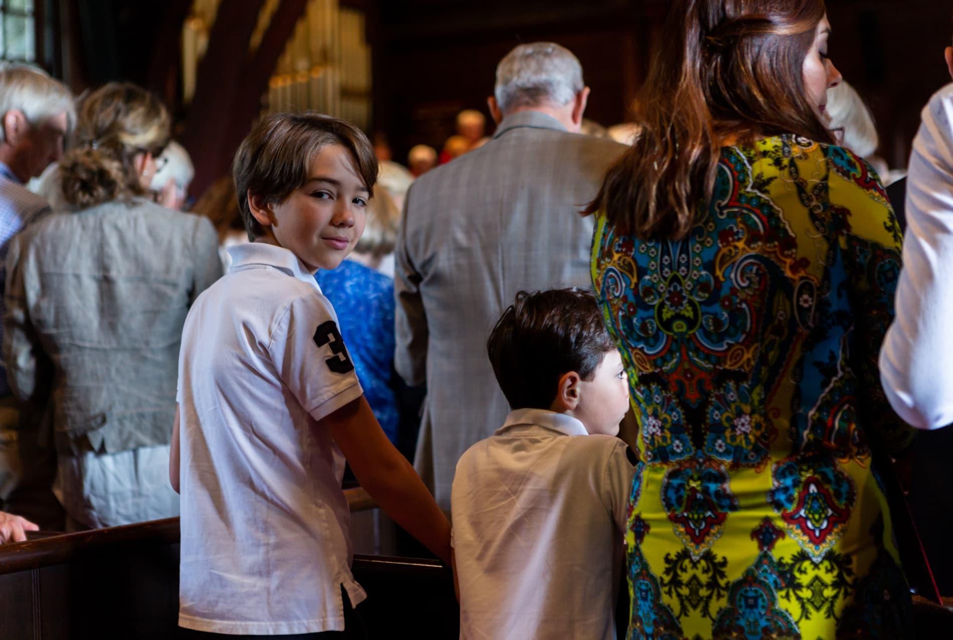 A boy in worship